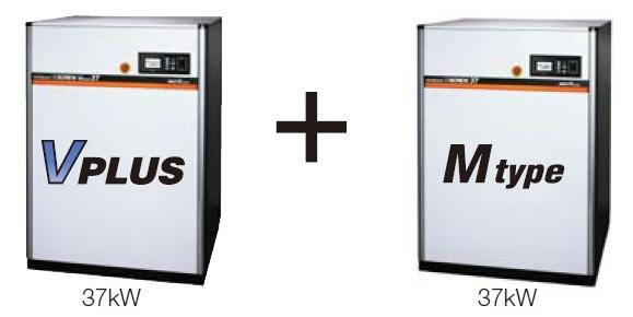 Mô hình V-M combine Máy nén khí Hitachi