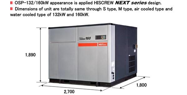 Thông số kỹ thuật máy nén khí trục vít Hitachi chịu nhiệt độ cao